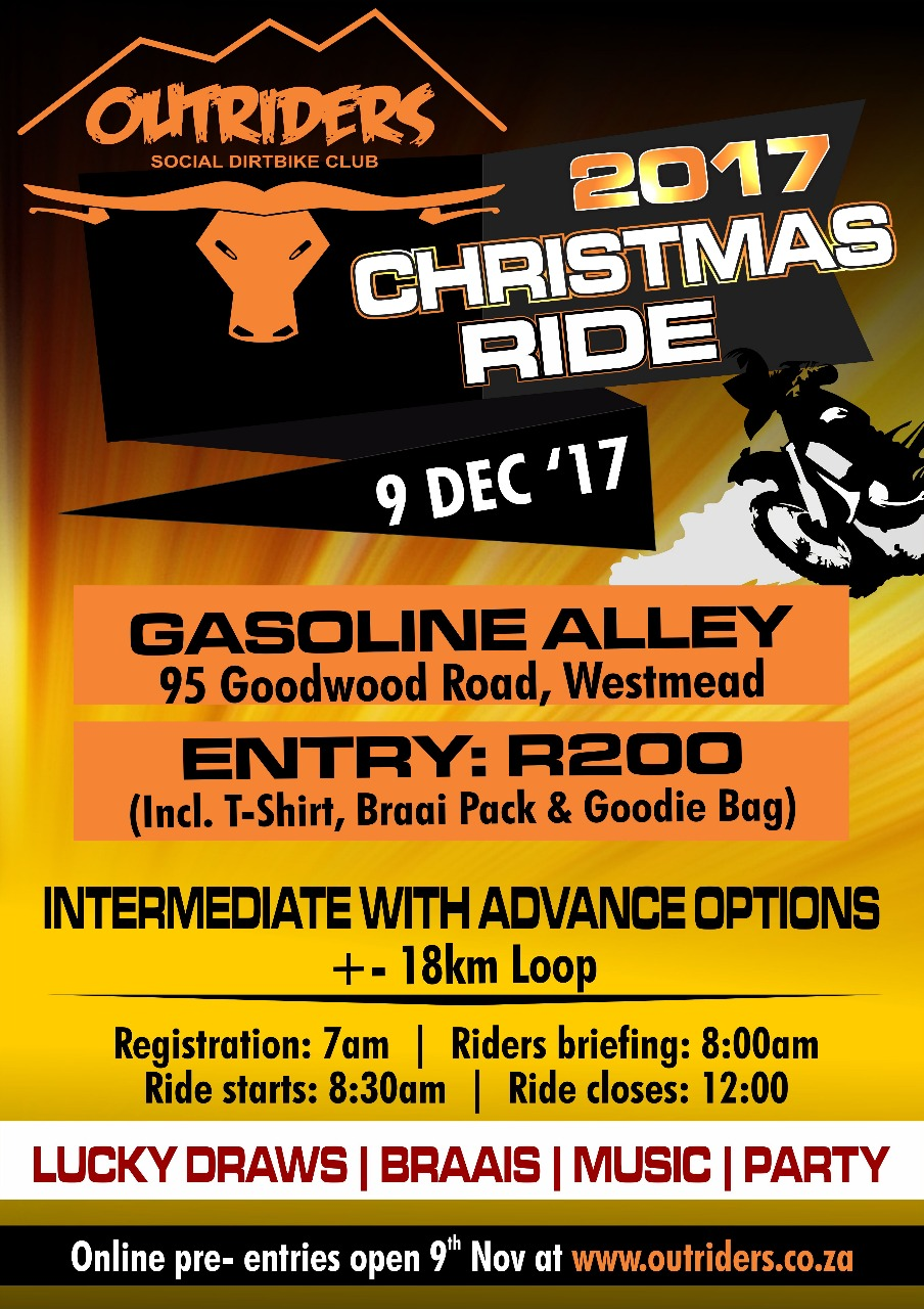 Outriders 2017 Christmas Ride poster