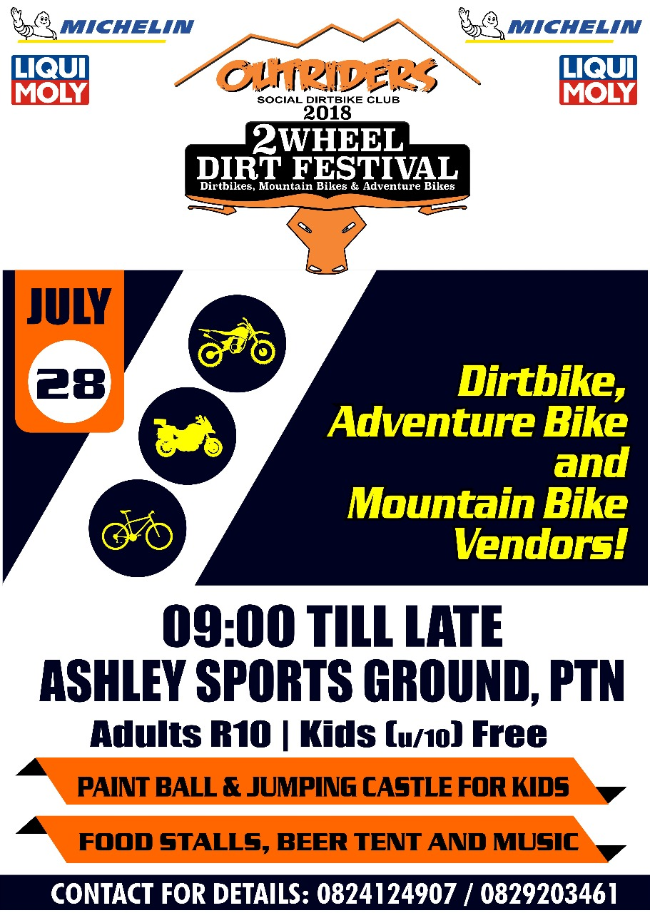 Outriders 2 Wheel Dirt Festival 2018 poster