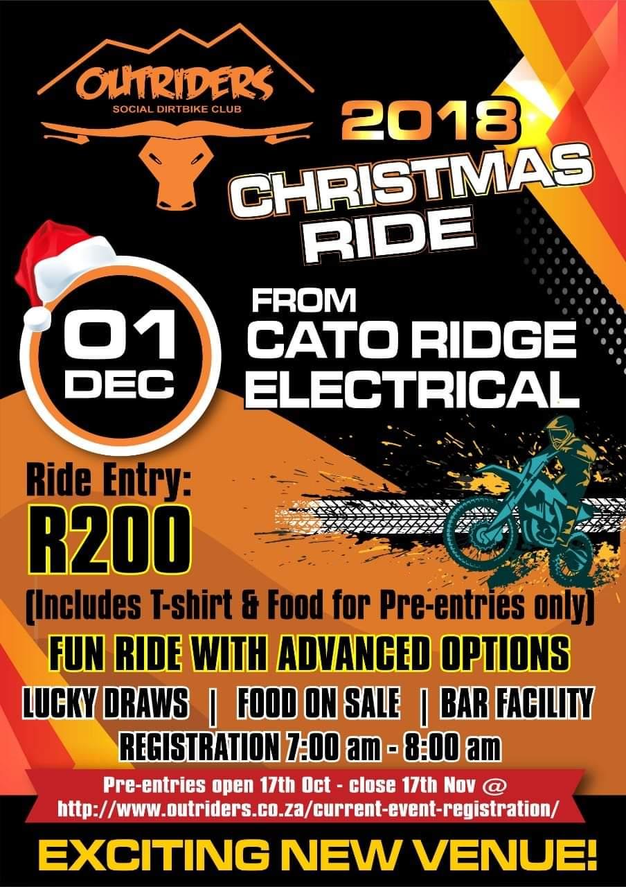 2018 Christmas ride poster